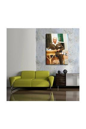 mağazacım Atatürk Sandalyesinde Otururken 50 Cm X 70 Cm Kanvas Tablo Tbl1219 1