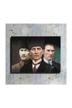 mağazacım Atatürk 3'lü Portre 50 Cm X 70 Cm Kanvas Tablo Tbl1223 0