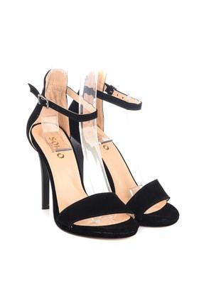 Soho Exclusive Siyah Süet Kadın Klasik Topuklu Ayakkabı 14530 3