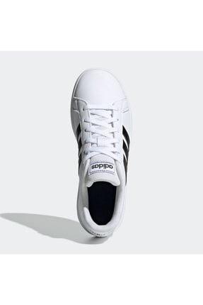 adidas Grand Court Beyaz Erkek Çocuk Sneaker Ayakkabı 4