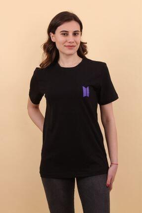 Lena Butik Bts Ön Arka Baskılı T-shirt 0