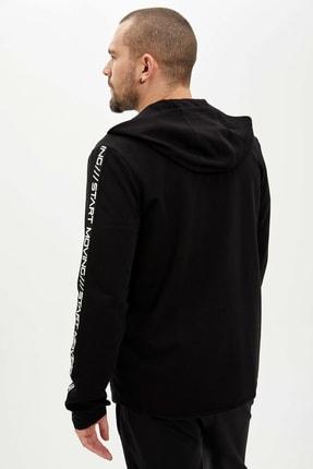 Defacto Kapüşonlu Slim Fit Fermuarlı Sweatshirt 4