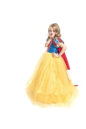 Mashotrend Tarlatanlı Pamuk Prenses Kostümü - Pamuk Prenses Kostümü Prenses Elbise - Pelerin + Taç 2