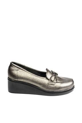 Polaris 92.151039.Z Gümüş Kadın Dolgu Topuklu Ayakkabı 100428480 1