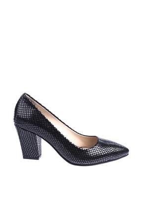 Dgn Siyah Petek Kadın Topuklu Ayakkabı 374-148 1