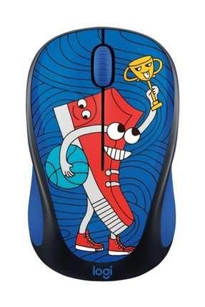 logitech M238 Kablosuz Mouse Doodle Sneaker Head 0