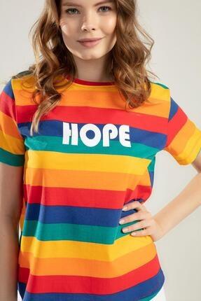 Pattaya Kadın Renk Bloklu Kısa Kollu Tişört Y20s110-4140 2