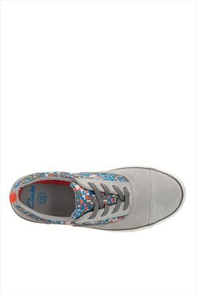 CLARKS Hakiki Deri Gri Çocuk Ayakkabı 261050877 1
