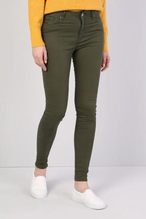 Colin's Super Slim Fit Yüksek Bel Skinny Leg Kadın Haki Pantolon 3