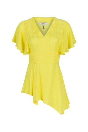 İpekyol Kadın Neon Sarı Neon  Bel Vurgulu Asimetrik Bluz IS1190006252BT1 2