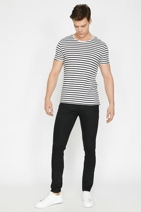 Koton Erkek Siyah Pantolon BSC 0
