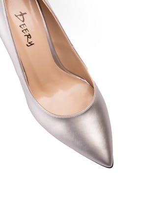 Deery Gümüş Kadın  Klasik Topuklu Ayakkabı 02029ZGMSM01 2