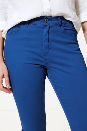 Marks & Spencer Kadın Lacivert Orta Belli Super Skinny Leg Kısa Jean Pantolon T57005110 2