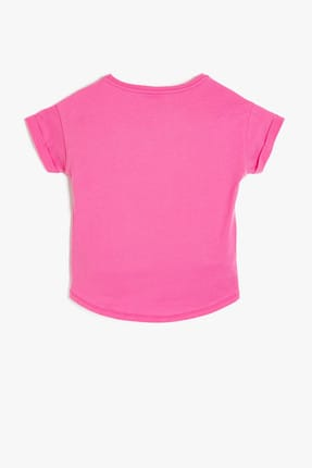 Koton Pembe Kız Çocuk T-Shirt 1