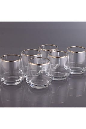 KristalGalerisi 6'lı Su Bardağı Takımı - LAL Safir Platin 0