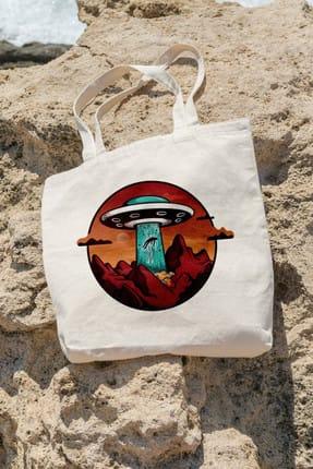 تصویر از Bag İnsan Kaçıran Ufo Alışveriş Plaj Bez Çanta