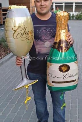 Chavin Doğum Günü Dev Boy Şampanya Kadeh Folyo Balon cin174 2