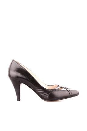 Dgn Siyah Kadın Klasik Topuklu Ayakkabı 653-127 0