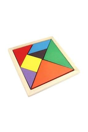 RoseRoi Ahşap Eğitici Oyuncak Bultak+Geometrik Set +Tangram+Kule 6'lı Set 4