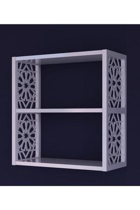 Pratico Dekoratif Duvar Rafı beyaz (50x60x20) 2