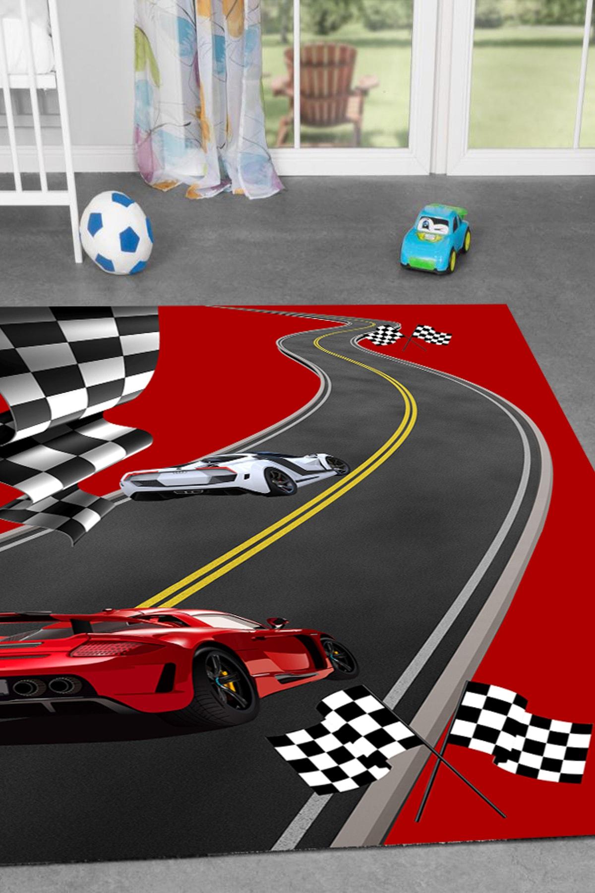 Trafik Parkurlu 150x230 Çocuk Oyun Halısı