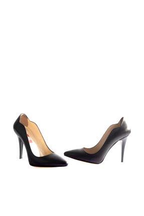 Dgn Siyah Kadın Klasik Topuklu Ayakkabı 166-127 3
