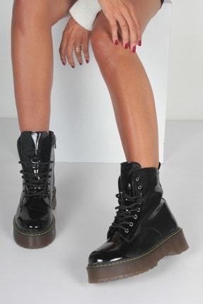 İnan Ayakkabı K. Siyah Rugan Kadın Bot KY92495 4