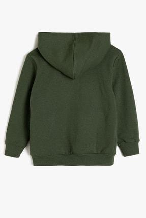 Koton Yeşil Erkek Çocuk Kapüsonlu Sweatshirt 1
