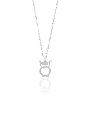 Söğütlü Silver Gümüş Rodyumlu Baykuş Modeli Kolye SGTL9864RODAJ 0