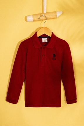 US Polo Assn Bordo Erkek Cocuk Sweatshirt 0