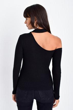 Cool & Sexy Kadın Siyah Tek Omuz Bluz CG53 2