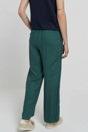 Yargıcı Kadın Yeşil Biye Detaylı Pantolon 9KKPN3128X 4