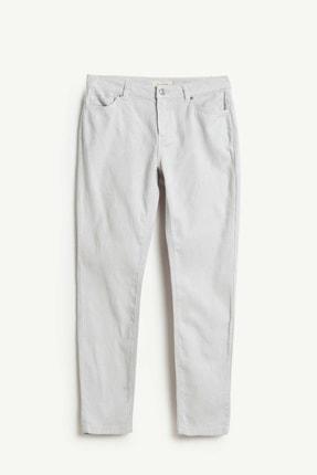 Yargıcı Kadın Açık Gri Beş Cep Pantolon 9KKPN3122X 0