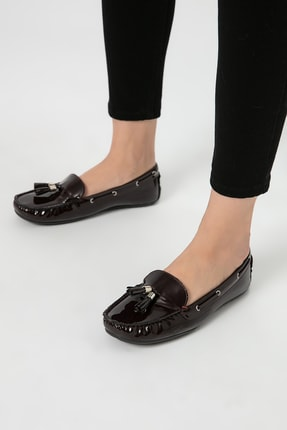 تصویر از Bordo Kadın Loafer Ayakkabı