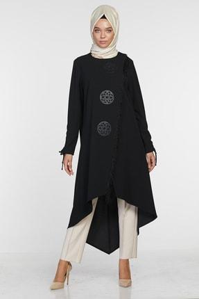 Sitare Kadın Siyah Önü Püsküllü Giy Çık 20K2284 20KGY20K2284 0