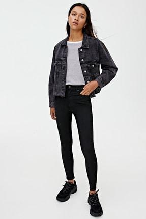 Pull & Bear Kadın Siyah Basic Yüksek Bel Skinny Fit Jean 09684315 2
