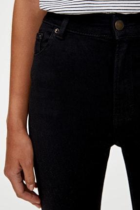 Pull & Bear Kadın Siyah Basic Yüksek Bel Skinny Fit Jean 09684315 4