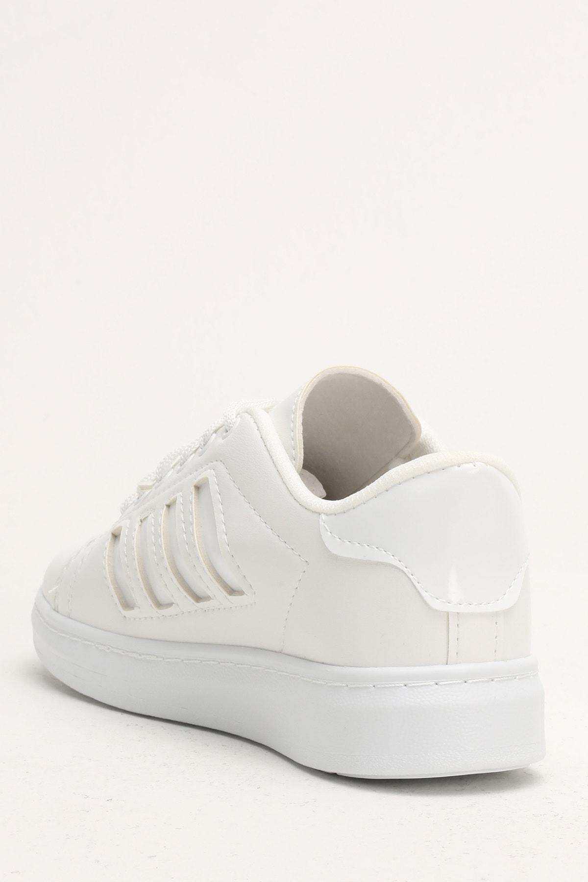 Ayakkabı Modası Beyaz Kadın Spor Ayakkabı M4000-19-101002R 2