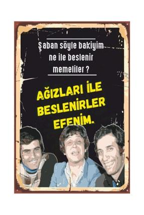 Hayat Poster Hababam Sınıfı Yeşilçam Retro Ahşap Poster 2030004 0