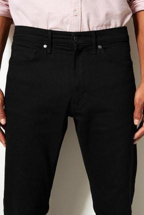 Marks & Spencer Erkek Siyah Straight Fit Streç Jean Pantolon T17001616M 4