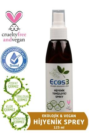 Ecos3 Ekolojik Hijyenik Temizleyici Sprey - 125 ml 0