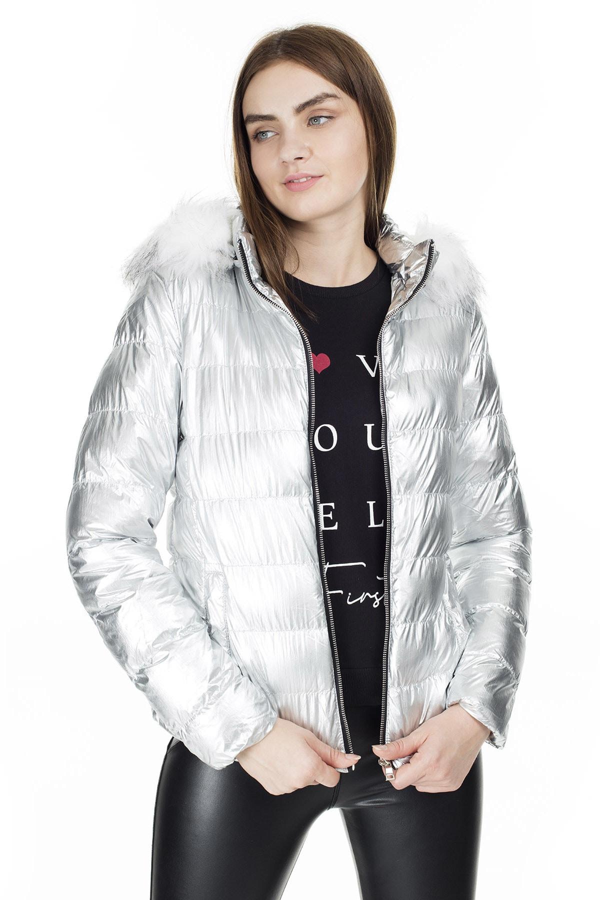 Fashion Friends Kapüşonlu Mont KADIN MONT 9K1618 3
