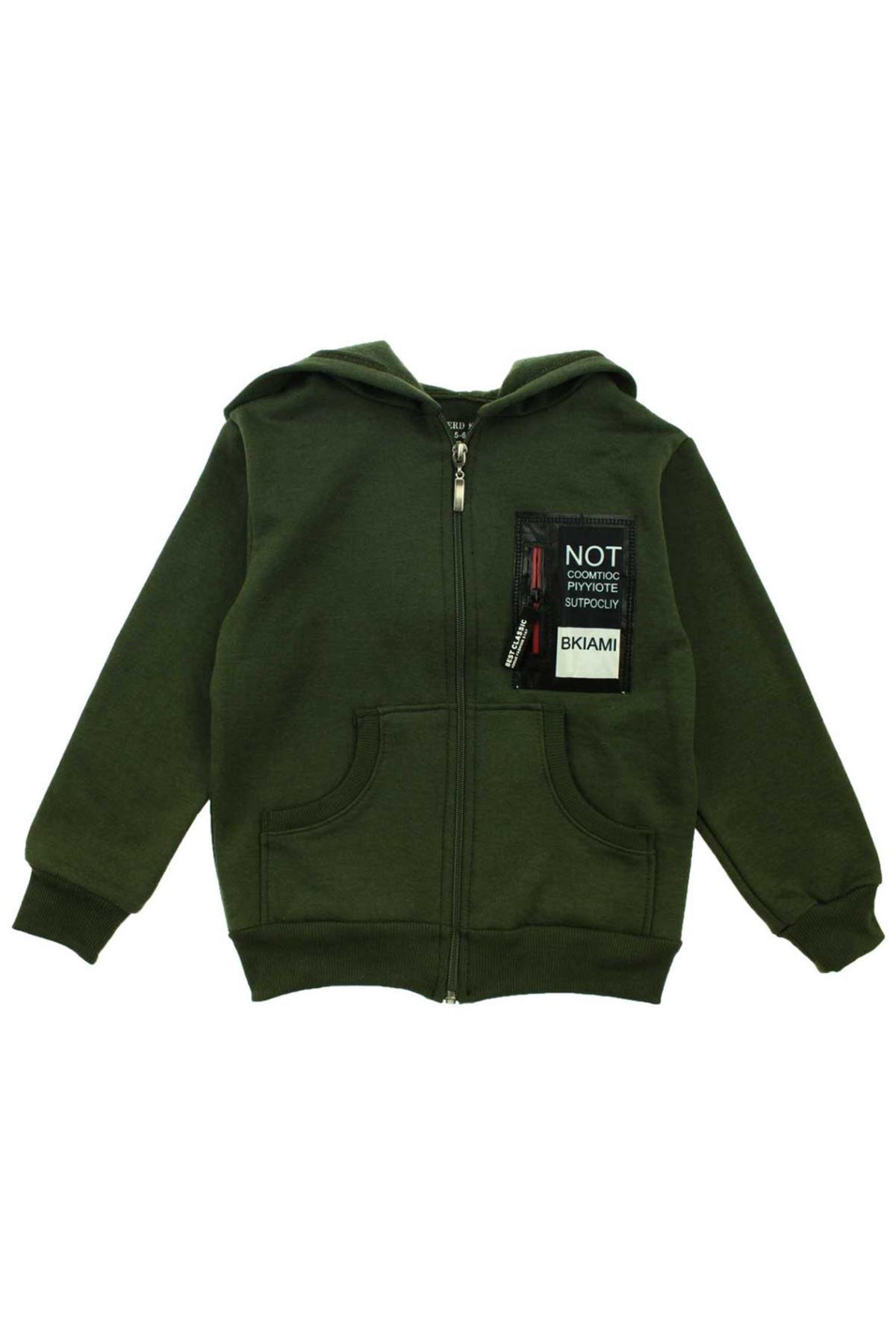 Yeşil Erkek Çocuk Sweatshirt