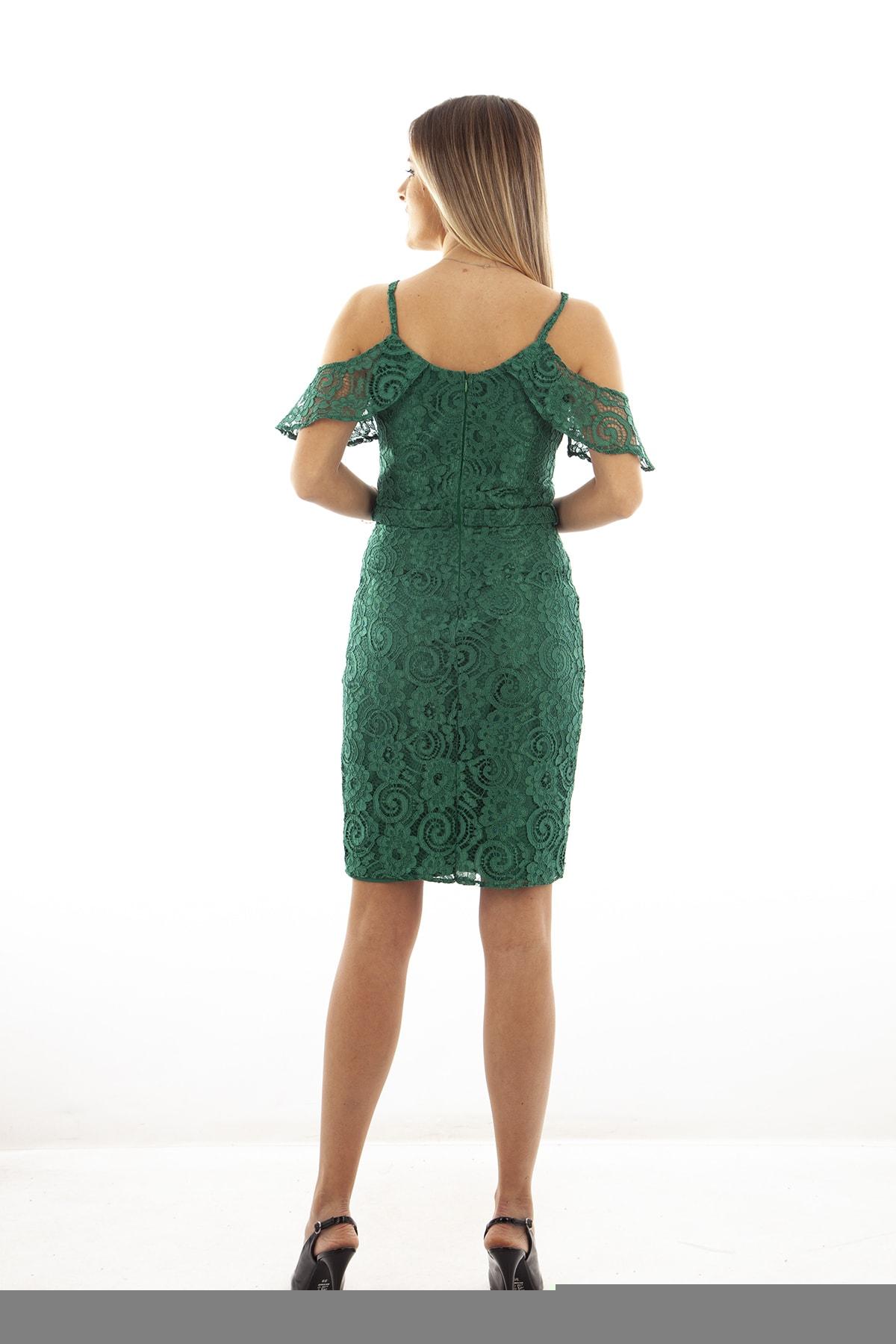 Ardanewline Kadın Yesıl Elbise 130122-10 2