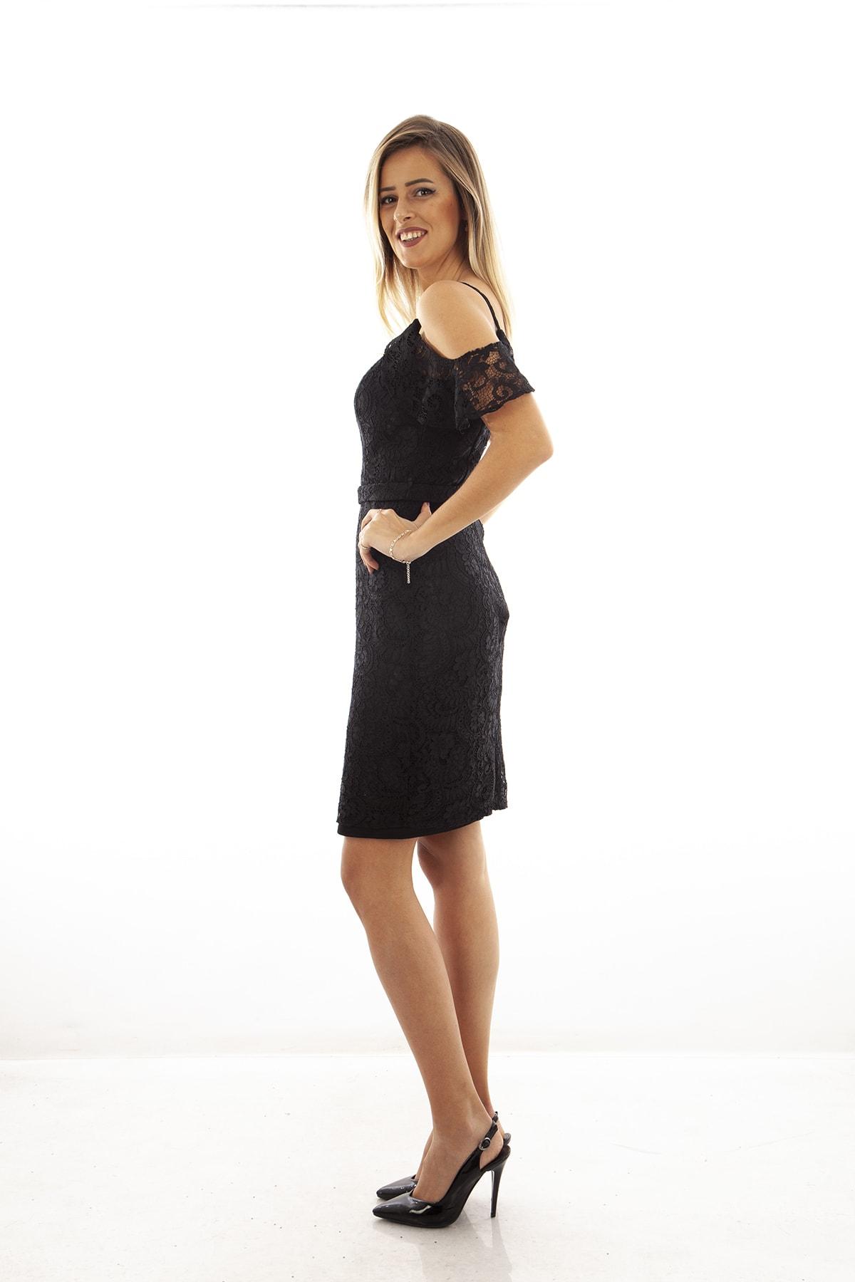 Ardanewline Kadın Siyah Elbise 130122-10 3