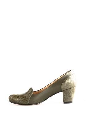 Dgn Yeşil Petek Yeşil Kadın Klasik Topuklu Ayakkabı 258-148 2