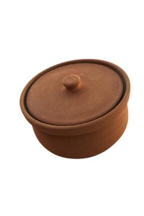 ALİ BABA CÖMLEK Pişirilmiş Turuncu Toprak Kücük Güveç 3-4 Kişilik 3