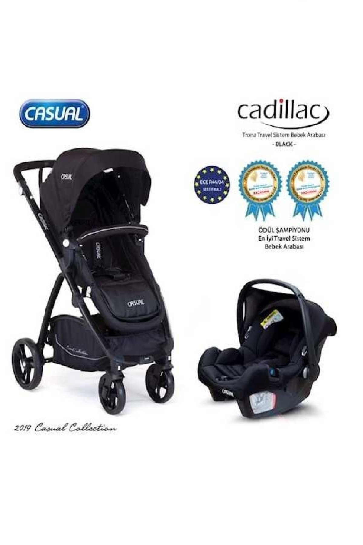 Casual Cadillac Trona Travel Sistem Bebek Arabası Siyah 0