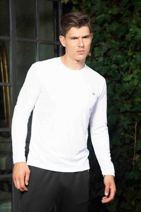 Mondo Beyaz Bisiklet Yaka Sweatshirt 1