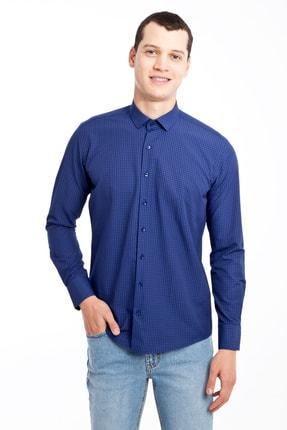 Kiğılı Uzun Kol Slim Fit Kareli Gömlek 0